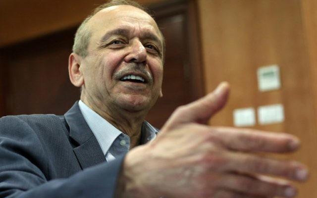 Le secrétaire général de l'OLP, Yasser Abed Rabbo, le 16 octobre 2014  (Crédit : AFP/Abbas Momani)