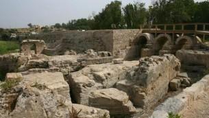 La zone de moulin à farine (Crédit : Shmuel Bar-Am)