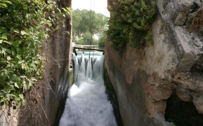 Le barrage de Nahal Taninim (Crédit : Shmuel Bar-Am)