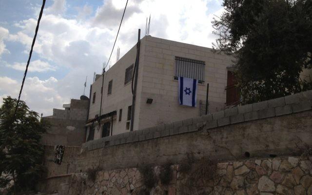 Un immeuble de Silwan acheté par des Juifs le 2 octobre 2014 (Crédit : Elhanan Miller/Times of Israel)