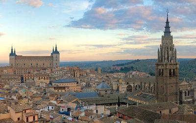 Vue aérienne de Toledo (Crédit : CC BY-SA /Wikimedia Commons)