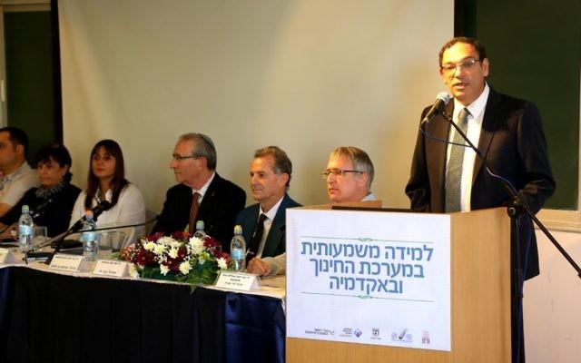Shai Piron (Crédit : ministère de l'Education)