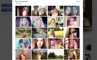 Certaines candidates pour le concours Miss Ostland 2014 sur le réseau social russe VKontakte (Capture d'écran)