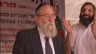 Aryeh Stern (Crédit : capture d'écran Deuxième chaîne)