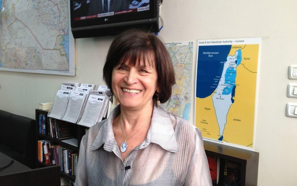 Gina Waldman, présidente de Juifs autochtones au Moyen-Orient et Afrique du Nord (JIMENA) à Jérusalem, le 30 novembre 2014 (Crédit photo : Elhanan Miller / Times of Israël)