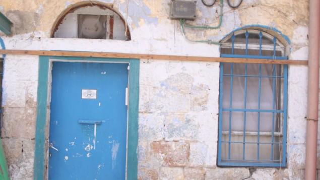 A Herodna houses, le bleu est la couleur majeure (Crédit : Shmuel Bar-Am)