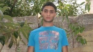 Abdelrahman al-Shaludi, qui a tué deux personnes et blessé sept autres à une station de tramway à Jérusalem le 23 octobre 2014. (Crédit : Deuxième Chaîne)