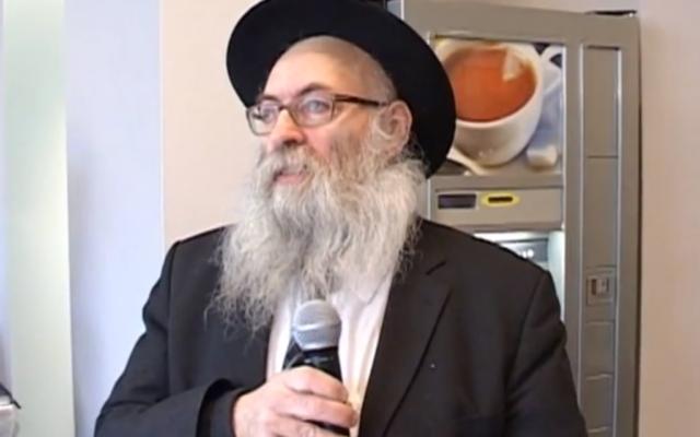 Capture d'écran Schmuel Azimov du Beth Loubavitch français (Crédit : YouTube)