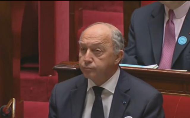 Capture d'écran Laurent Fabius (Crédit : LCP)