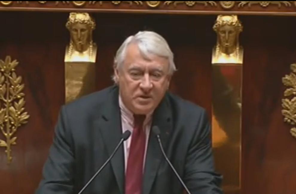 Claude Goasguen, député maire du XVIe arrondissement de Paris, le 28 avril 2008. (Crédit : capture d'écran LCP)