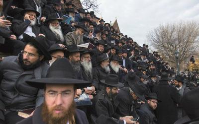 Des émissaires du mouvement Habad Loubavitch venus du monde entier assister à la conférence annuelle à New York, Etats-Unis. (Crédit: Adam Ben Cohen/Chabad.org)
