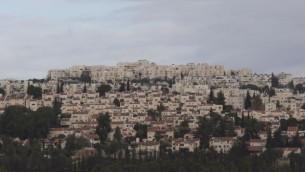Vue sur Ramot (Crédit : Yonatan Sindel/Flash90)