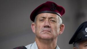 Le chef d'état-major de Tsahal Benny Gantz (Crédit : Miriam Alster/Flash90)
