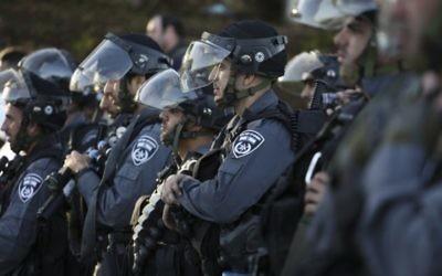 Des policiers des frontières israéliens (Crédiit : Flash 90)