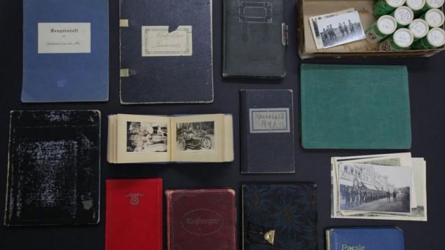 La collection de lettres, de journaux intimes, d'albums phots et d'autres documents appartenant à Heinrich Himmler et sa famille (Crédit:  Autorisation Realworks, Ltd.)