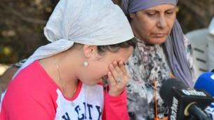 La famille de Netanel Arami en conférence de presse le 30 septembre 2014 (Crédit : Flash90)