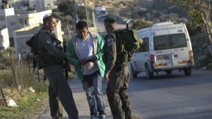 La police des frontières à Jabel Mukaber le 19 novembre 2014 (Crédit : Nati Shohat/FLASH90)