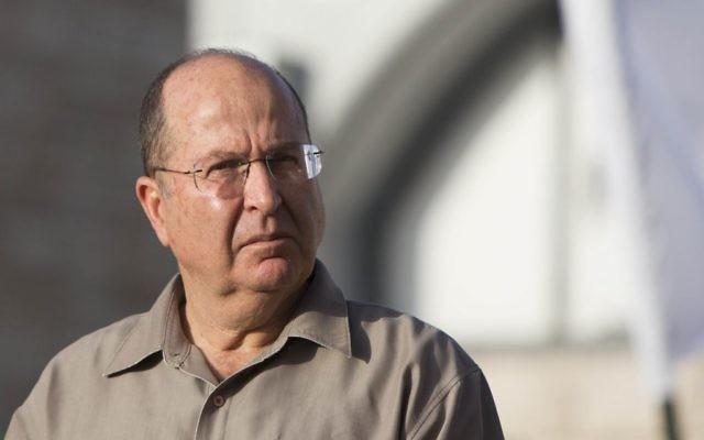 Le ministre de la Défense, Moshe Ya'alon (Crédit : Yonathan Sindel/Flash90)