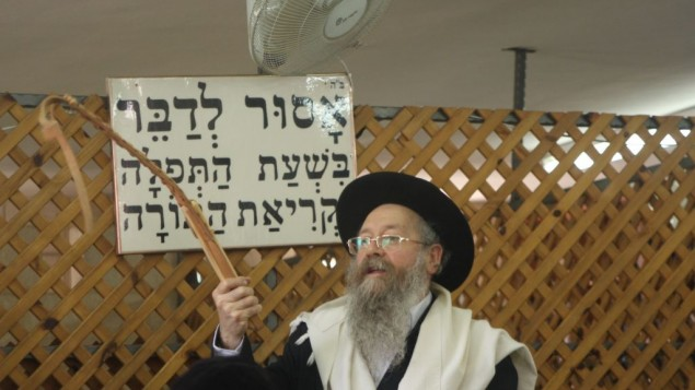 Rabbi David Bazri (Crédit : Shmuel Bar-Am)