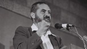 Meir Kahane (Crédit photo : Yossi Zamir/Flash90)