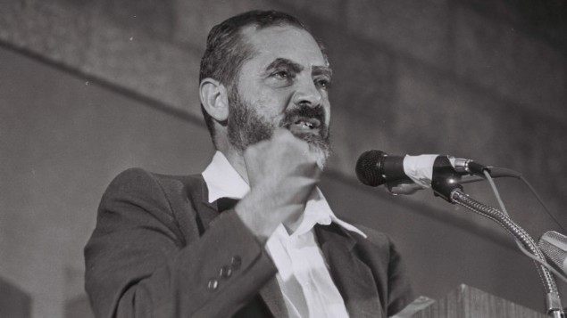 Le rabbi Meir Kahane (Crédit photo : Yossi Zamir/Flash90)