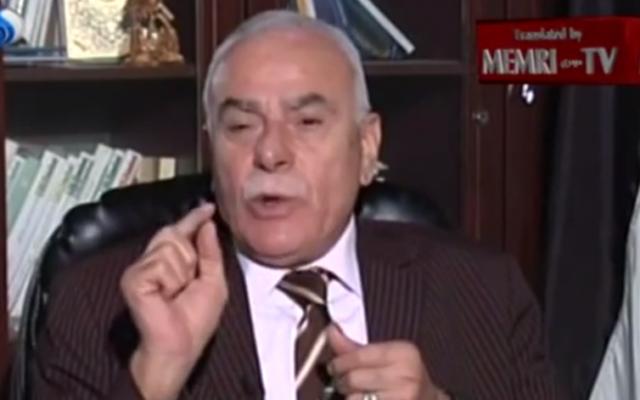 Sultan Abu Al-Einein,  membre du Comité central du Fatah (Capture d'écran : MEMRI, YouTube)