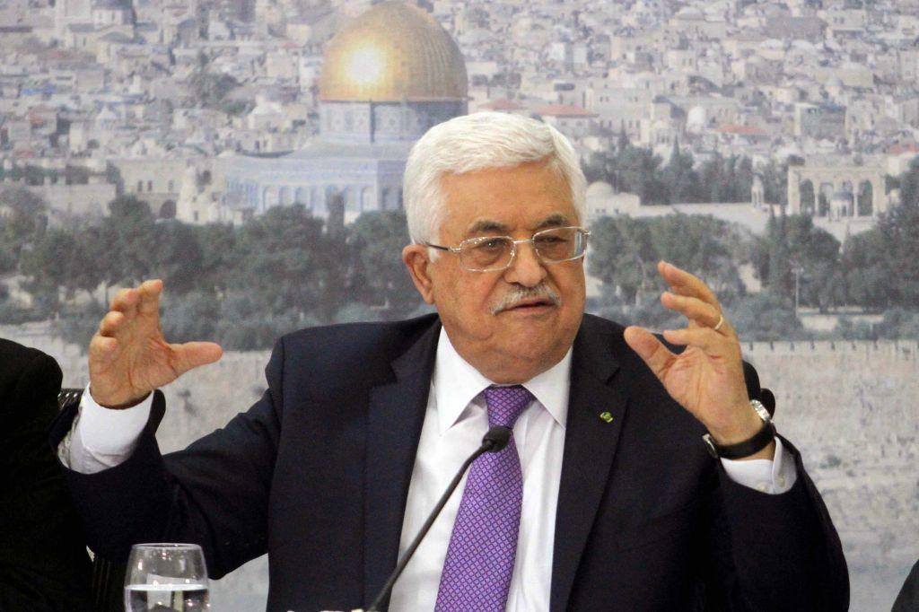 Le président de l'Autorité palestinienne Mahmoud Abbas (Crédit : Issam Rimawi/Flash90)