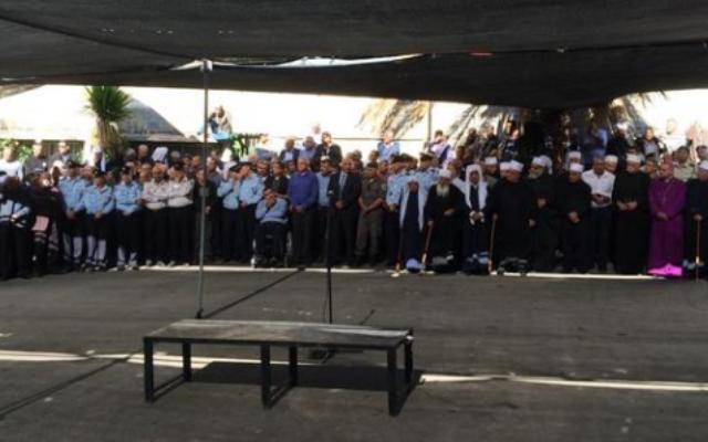 Funérailles de Jedan Assad, mort dans une attaque à la voiture bélier à Jérusalem (Crédit : Twitter/Guy Varon)