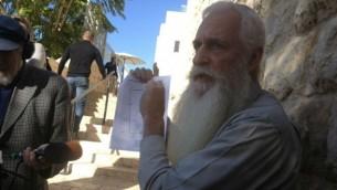 Yaakov Heyman (Crédit : Mitch Ginsburg/Times of Israel)