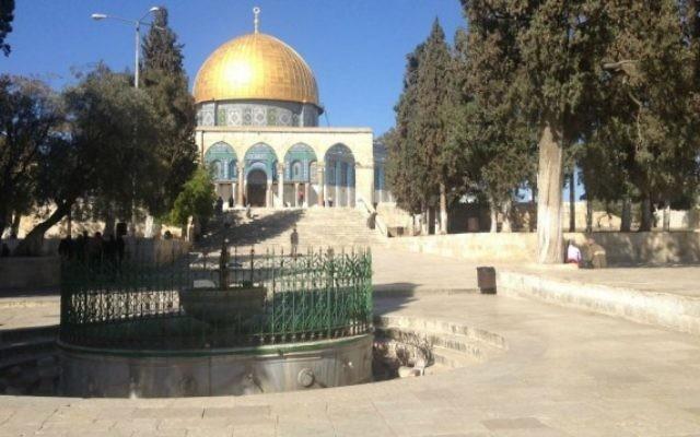 Le mont du Temple - 11 novembre 2014 (Crédit : Mitch Ginsburg/Times of Israel)
