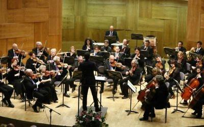 Les membres de l'Orchestre Symphonette Raanana. Le RSO est le fer de lance d'un projet honorant les Justes parmi les Nations à travers de nouvelles œuvres commandées à des compositeurs israéliens. (Crédit  autorisation)