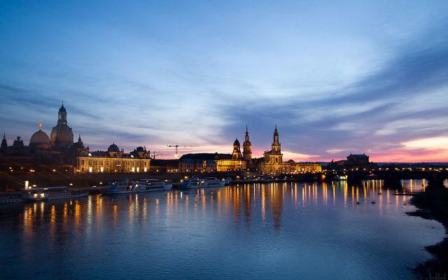 Une vue de la ville de Dresde dans l'est de l'Allemagne (Crédit : Wikipédia CC-BY-SA 2.0)