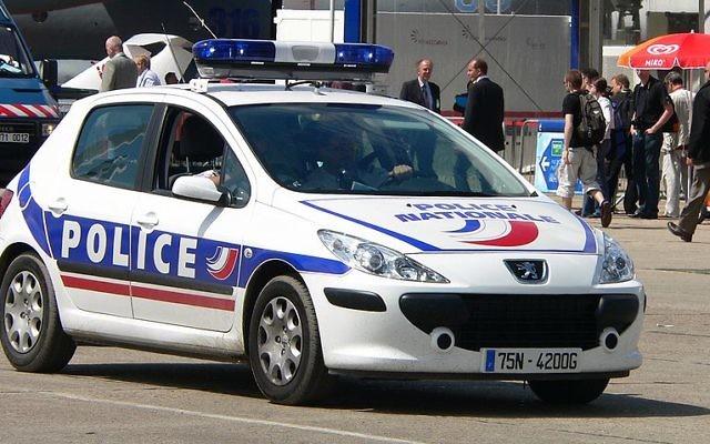 Illustration d'une voiture de police française (Crédit : David Monniaux/Wikimedia communs/CC BY SA 3.0)