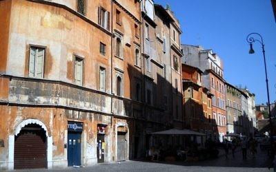 Vue sur le ghetto juif de Rome (Crédit :  Gobbler/CC BY SA 3.0/Wikimedia communs)