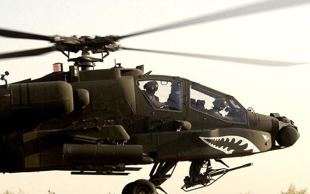 Hélicoptère AH-64 Apache (Crédit : domaine public)