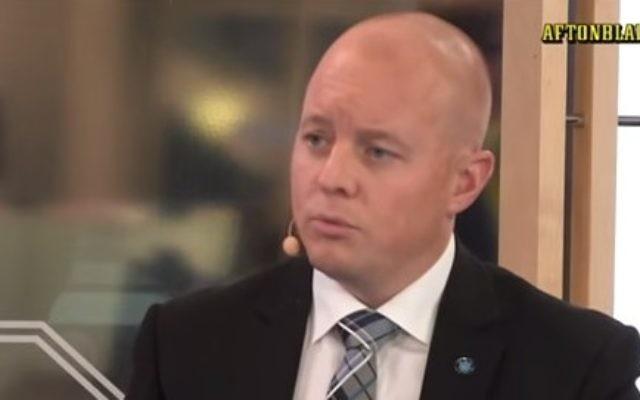 Björn Söder, le secrétaire du parti Démocrate (Crédit Capture d'écran YouTube)