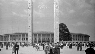 Le stade olypique de Berlin en 1936 (Crédit Wikipédia)