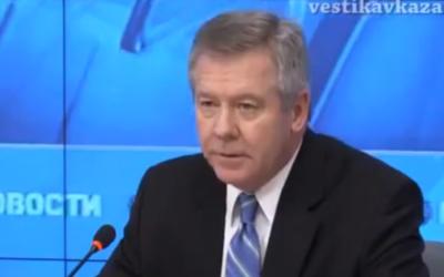Gennady Gatilov, ministre délégué aux Affaires Etrangères de la Russie (Crédit : capture d'écran YouTube)