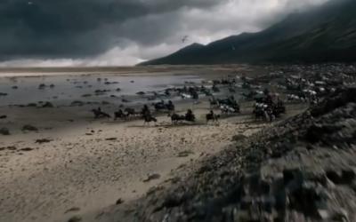 Capture d'écran de la bande annonce du film Exodus (Crédit : YouTube)