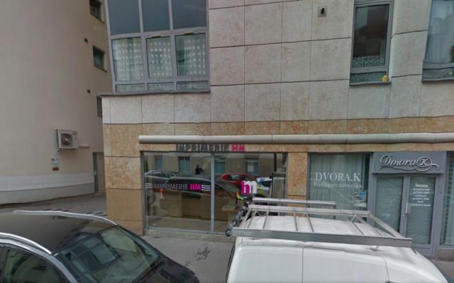 Capture d'écran de la façade de l'imprimerie HM - 26 décembre 2014 (Crédit : google street view)