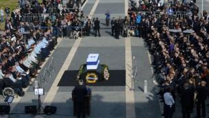 Funérailles d'Ariel Sharon - 13 janvier 2014 à Jérusalem (Crédit : Amos Ben Gershom / GPO / Flash90)