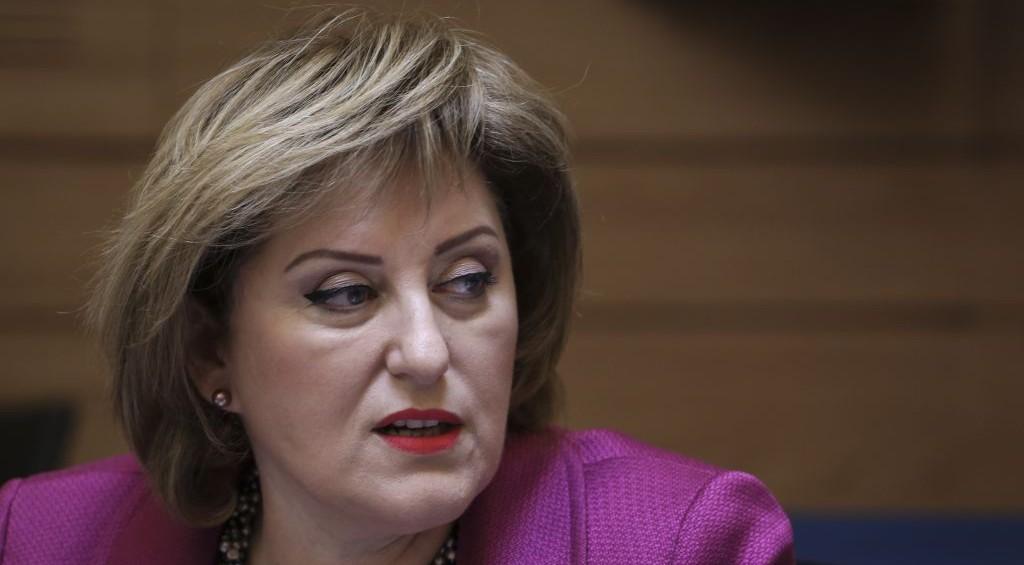 Faina Kirshenbaum, ancienne vice-ministre de l'Intérieur du parti Yisrael Beytenu, à la Knesset, en mai 2014. (Crédit : Hadas Parush/Flash90)
