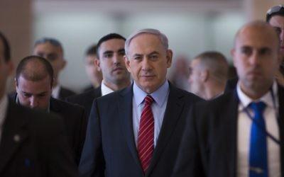 Benjamin Netanyahu - 3 décembre 2014 (Crédit : Yonatan Sindel/Flash90)