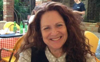 Linda oLmert (Crédit : Renee Ghert-Zand / Times of Israël)