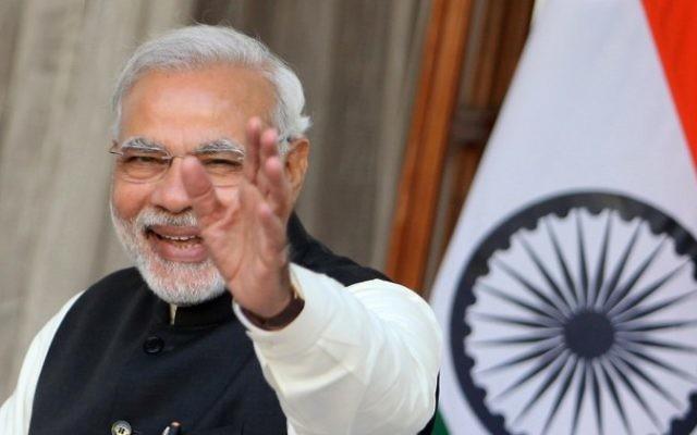 Le Premier ministre indien Narendra Modi, le 11 décembre 2014. (Crédit : Findlay Kember/AFP)