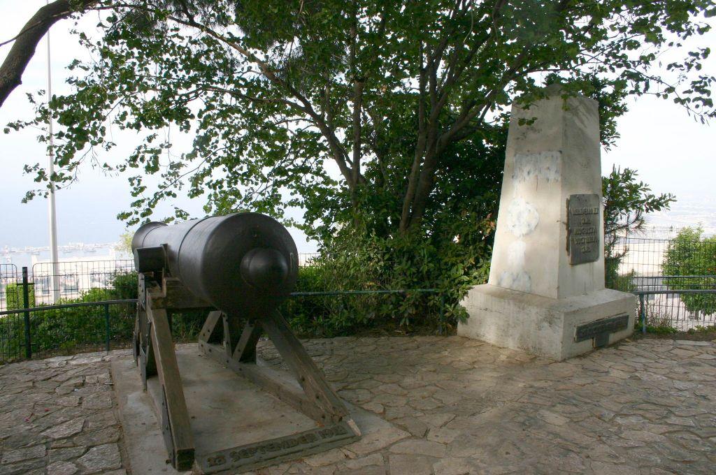 Le monument en l'honneur de Kaiser Wilhelm et de sa femme Augusta Victoria (Crédit : Shmuel Bar-Am)