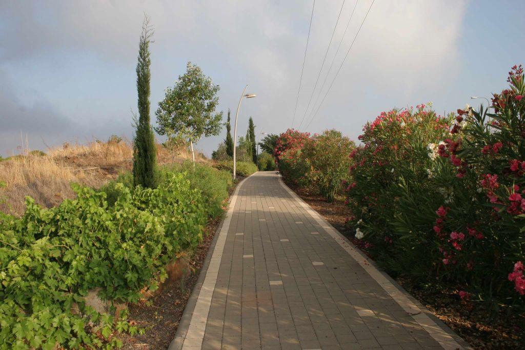 Le paysage sur la promenade Kaztrin (Crédit : Shmuel Bar-Am)