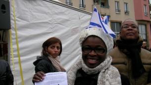 Les habitants de Créteil pour lutter contre l'antisémitisme - 7 décembre 2014 (Crédit : Henri Bettan/Times of Israel)