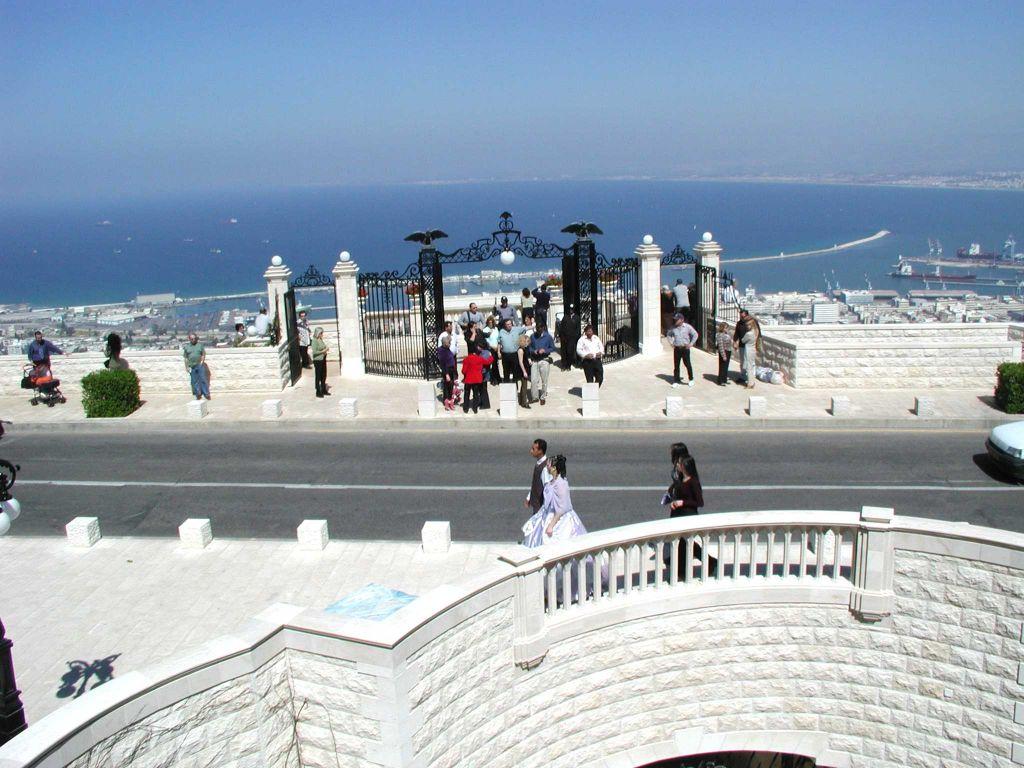 Un petit moment sur le front de mer d'Haifa (Crédit : Shmuel Bar-Am)