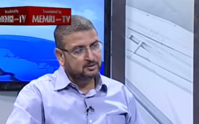 Sami Abu Zuhri, porte-parole du Hamas. (Crédit : YouTube/MEMRI)